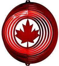 12 in stainless steel red Maple Leaf USA 3D hanging garden wind spinner spinners - $32.00