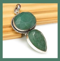 NEW 94ctw Natural EMERALD Gemstone Pear Round Shaped 925 Sterling Silver... - $54.99