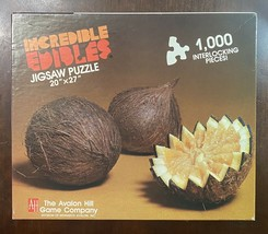 """Brand New INCREDIBLE EDIBLES """"COCOFRUIT"""" 1000 Piece Puzzle By Avalon Hill - $24.26"""
