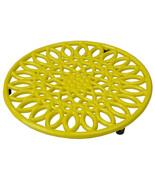 Sunflower Heavy-Duty Cast-Iron Trivet Hot Dish, Pot, Pans Teapot Yellow EBY63249 - $20.78