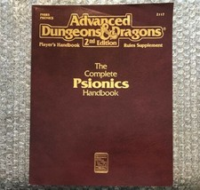 The Complete Psionics Handbook - 1991 TSR AD&D 2nd Edition Rules Supplement  - $23.75