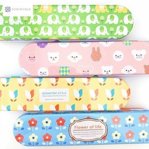 Fresh Flower Elephant Animals Pencil Case School Supply Student Statione... - $5.54