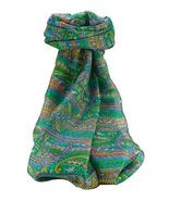 Mulberry Silk Traditional Long Scarf Gosthani Emerald by Pashmina & Silk - $23.93