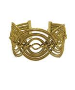 Geometric Wide Cuff Bracelet, Wide Braided Cuff Bracelet, Handcrafted, G... - $838,43 MXN