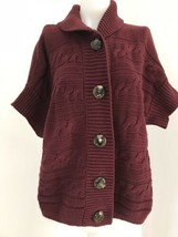 Talbots Petites Brown Short Sleeve Cardgan Sweater - Women's 2XP - $28.49