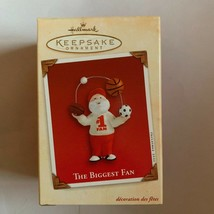 Hallmark Keepsake Ornament Santa Claus Biggest Fan 2002 in Box Christmas... - $11.29