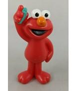 "Mattel Sesame Street Elmo Figure 2.75"" Holding Crayon 2008 Toy - $4.46"