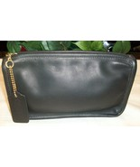 Coach Vintage Leather Chunky Case Pouch 7165 Black Cosmetic Wallet  - $69.00