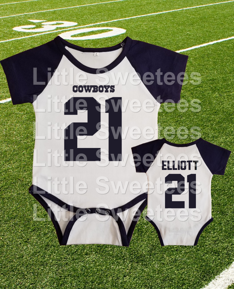 best service eb64f 0349c Dallas Cowboys Onesie Ezekiel Elliott Jersey and 50 similar ...