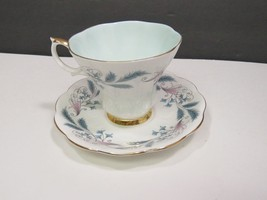 Royal Albert Tea Cup and Saucer Ferns Swirls Bone China England - $19.80