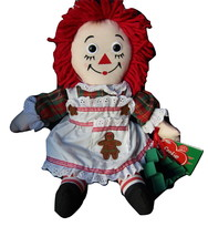 """2003 Cookie Chef Raggedy Ann (Christmas) by Hasbro 14"""" - $18.50"""