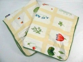 Waverly Summer Studies Floral Herbs Plaid Yellow Cream Standard Shams (Set of 2) - $40.00