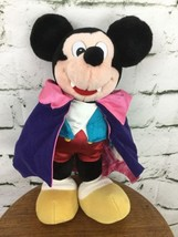 Disney Mickey Mouse Vampire Stuffed Plush Purple Cape - $13.86