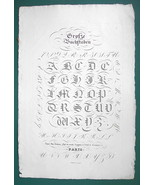 "1826 PENMANSHIP Calligraphy Old English Text - 12"" x 18"" Superb Print #11 - $40.46"