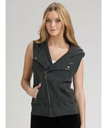 Juicy Couture Original USA Granite Motorcycle Vest Zipper Pockets - Wome... - $150.00