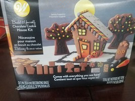 Build It Yourself Chocolate Cookie House Decorating Kit-Halloween Hous - $39.08
