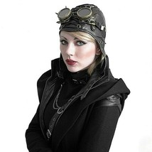 Steampunk Hat Women Mask Cap Vintage Leather Goggles Masquerade Costume ... - £38.62 GBP