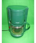 Vintage Connaisseur Home Concepts Coffee Maker 10 Cup Hunter Green - $23.33