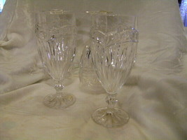 Bleikristall Made In W. Germany Crystal 24% Pbo Wine Water Glasses 4 Pieces - $48.37