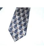 Pierre Cardin Tie Silk Brown Tan Black  - $9.86