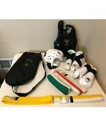 Taekwondo Martial Arts Karate Sparring Gear Set Size Youth S M Helmet Ch... - $39.99