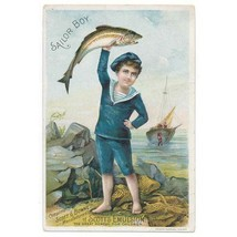 19th Century Scott's Emulsion, Sailor Boy Trade Card, cod-liver oil - $15.00