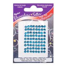 72 Blue Zircon 4mm Hot Fix Glass Stone Rhinestones - $3.29