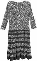 Anne Klein Dress  Sz 8 Black Camellia Business Casual Party Jersey Swing Dress  image 2