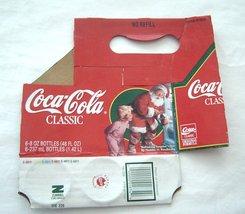 Coca cola Cardboard Soda Bottle Carrier Santa Clause Classic Original Fo... - $18.99