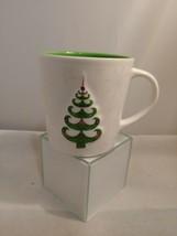 Starbucks Holiday 2006 Coffee Mug Cup 17oz Embossed Tree Snowflakes Whit... - $17.75