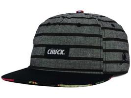 Original Chuck Lowkey Chuck Adjustable Snapback Snap Back Hat Cap Gray Black