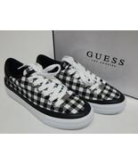 GUESS Leenie Sz US 6.5 M EU 37 Damen Bedruckt Low Top Sneakers Schwarz K... - $37.45