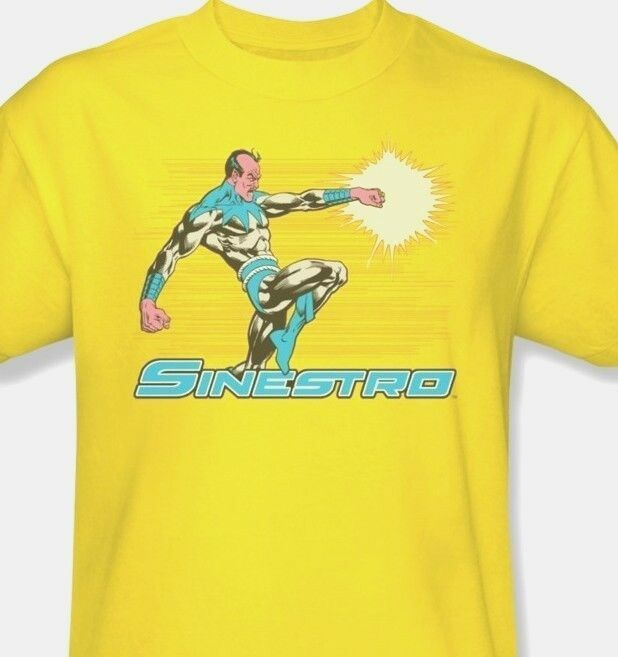 Sinestro T-shirt DC viilians comic book vintage super hero cotton tee dco310