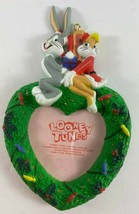 1997 Looney Tunes Bugs Bunny and Girlfriend Heart Shaped Photo Ornament - $12.86