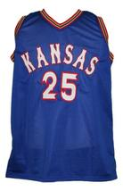 Danny Manning #25 Custom College Basketball Jersey New Sewn Blue Any Size image 3