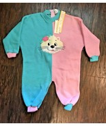 Vintage Infant Baby Bunting Sleep & Play One Piece 12 months Full Zip Lo... - $4.90