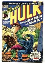INCREDIBLE HULK #182 comic book 2nd WOLVERINE BRONZE VG - $107.19
