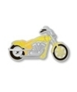 Yellow Cancer Ribbon Troop Motorcycle Biker Pin... - $10.97