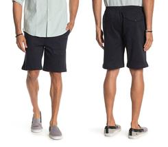 MICHAEL BASTIAN Garment Dyed Pocket Shorts Navy Size L - $27.71