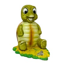 Vintage Homco Baby Turtle Sitting on a Leaf with Worm Figurine Number 1123 - $29.95