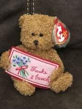 Ty Beanie Baby Thanks a bunch - MWMT (Bear Greetings Collection) 2006 - $6.79