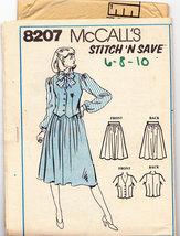 McCALL'S STITCH 'N SAVE PATTERN 8207 MISS VEST SKIRT SZ. 6-1 - $2.50