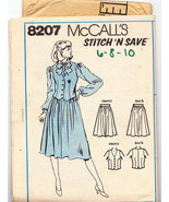 McCALL'S STITCH 'N SAVE PATTERN 8207 MISS VEST SKIRT SZ. 6-1 - $2.50