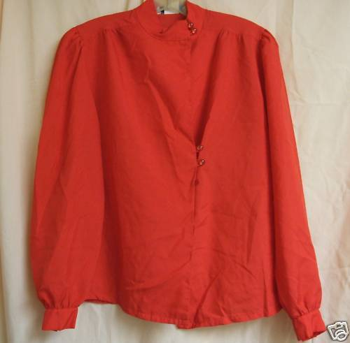 FREE WITH PURCHASE~Red silky  Blouse 38