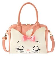 "2016 Disney store Japan Aristo cat Marie ""Way face Boston bag shoulder hand - $88.11"
