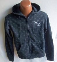"HARLEY DAVIDSON - Women's Black Mid-Weight Hoodie Jacket - Pit-to-Pit 18"" - $21.95"