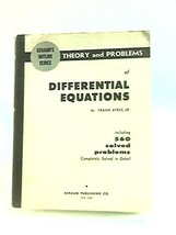 Schaum's outline of theory and problems of differential equations Ayres, Frank image 1