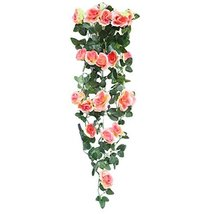 George Jimmy Rose Artificial Flowers Romantic Hanging Flower Vine Valentine Wedd - $22.71