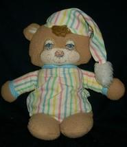 "16"" VINTAGE 1986 FISHER PRICE # 1405 TEDDY BEAR RATTLE STUFFED ANIMAL PL... - $88.83"