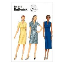 Butterick Patterns B5849 Misses' Dress Sewing Template, Size A5(6-8-10-12-14) - $9.80